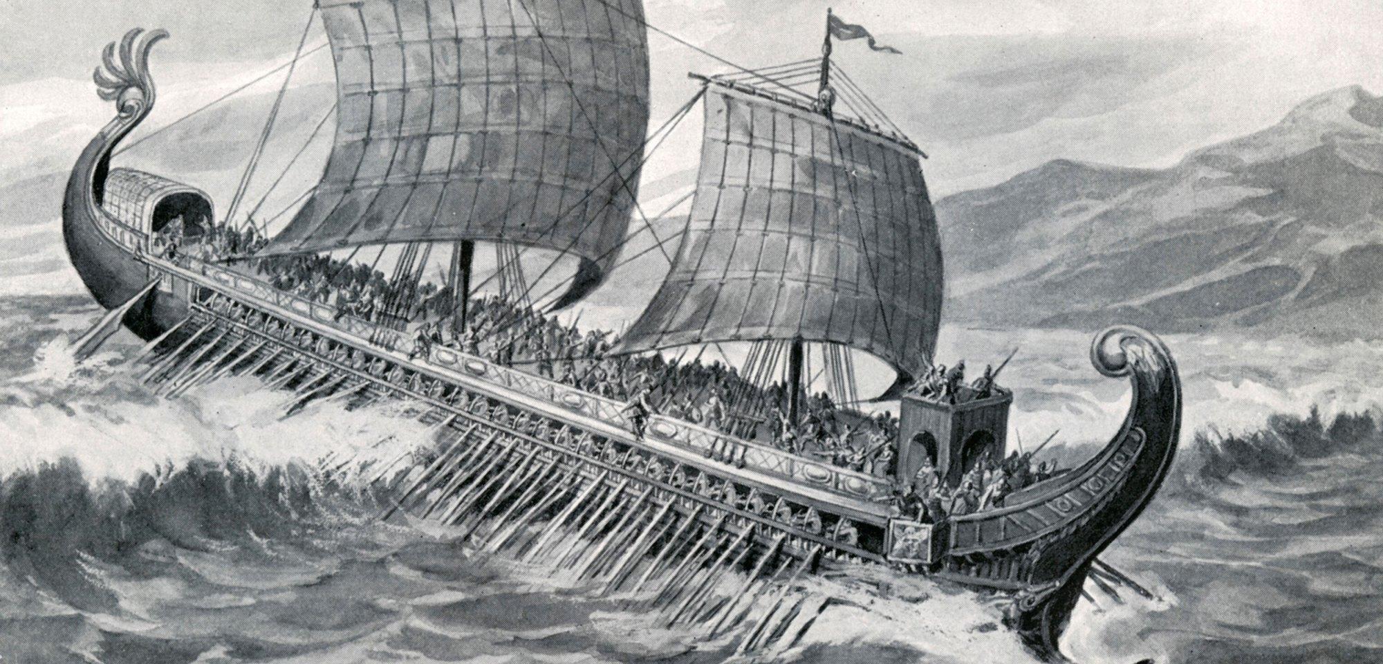 hight resolution of greek warfare greek trireme