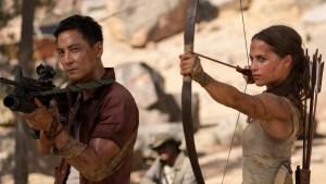 Daniel Wu(Lu Ren) & Alicia Vikander (Lara Croft) in Tomb Raider 2018