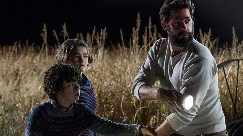 A Quiet Place - 2018 - Lee (John Krasinski),Marcus Abbott (Noah Jupe), Regan Abbott (Millicent Simmonds)