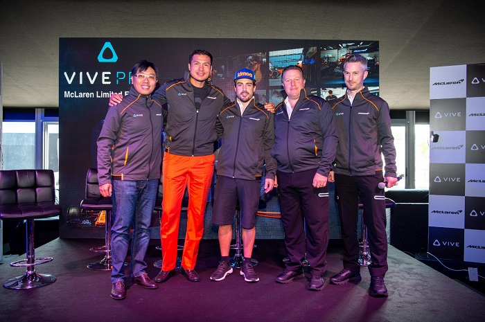 HTC and McLaren Executives with Fernando Alonso
