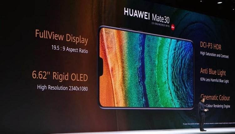 Huawei Mate 30- Display Details