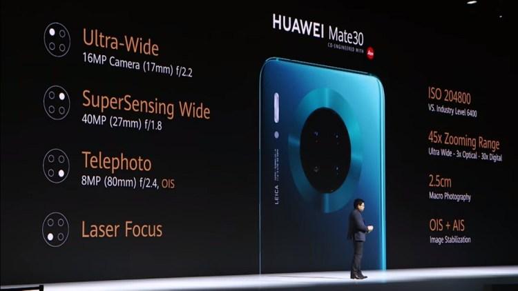 Huawei Mate 30- Main Camera Array
