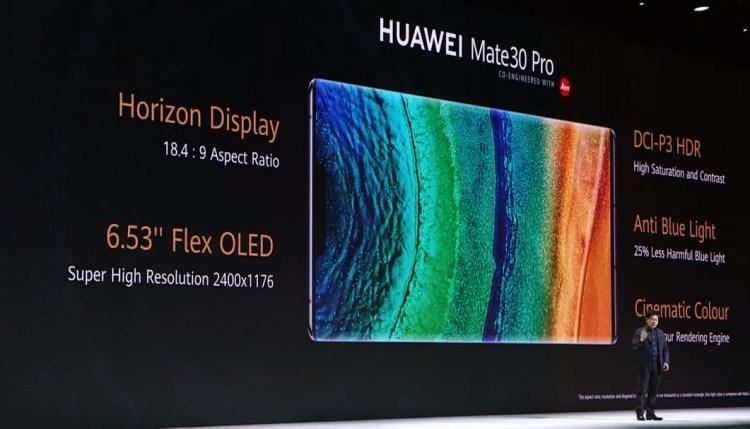 Huawei Mate 30 Pro- Display Details