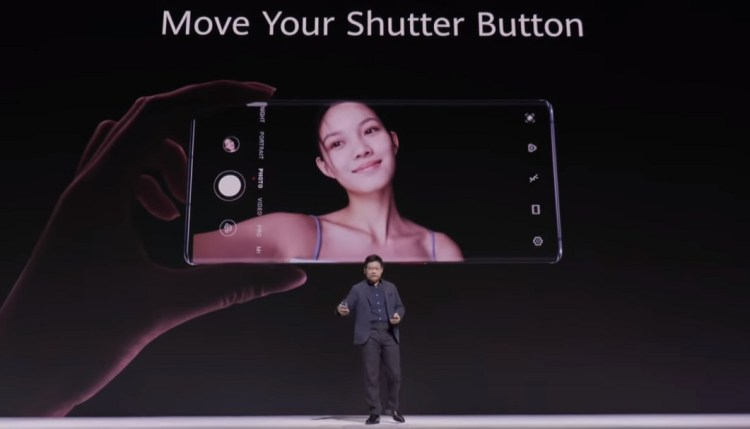 Huawei Mate 30 series- Intuitive Side-touch Interaction for click an image