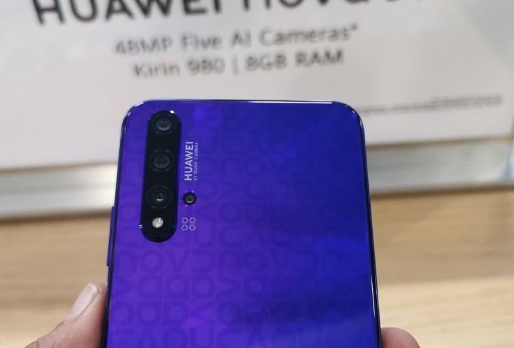 Huawei Nova 5T Smartphone-Back Panel with Nova Monogram