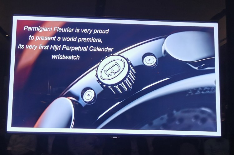 At the launch of Parmigiani Fleurier Hijri Calendar Wristwatch