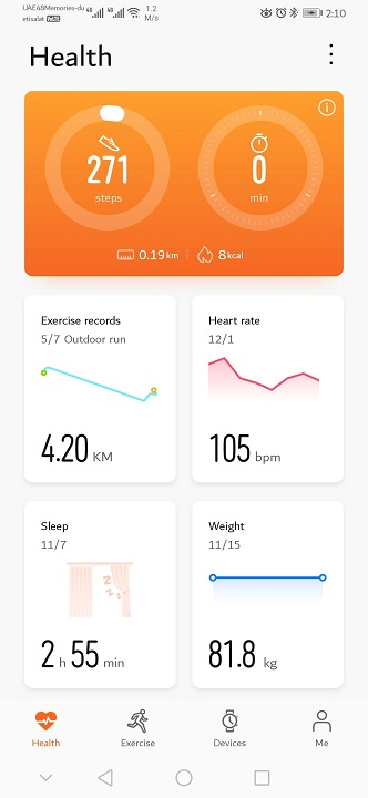 Huawei GT2-Watch- Health App