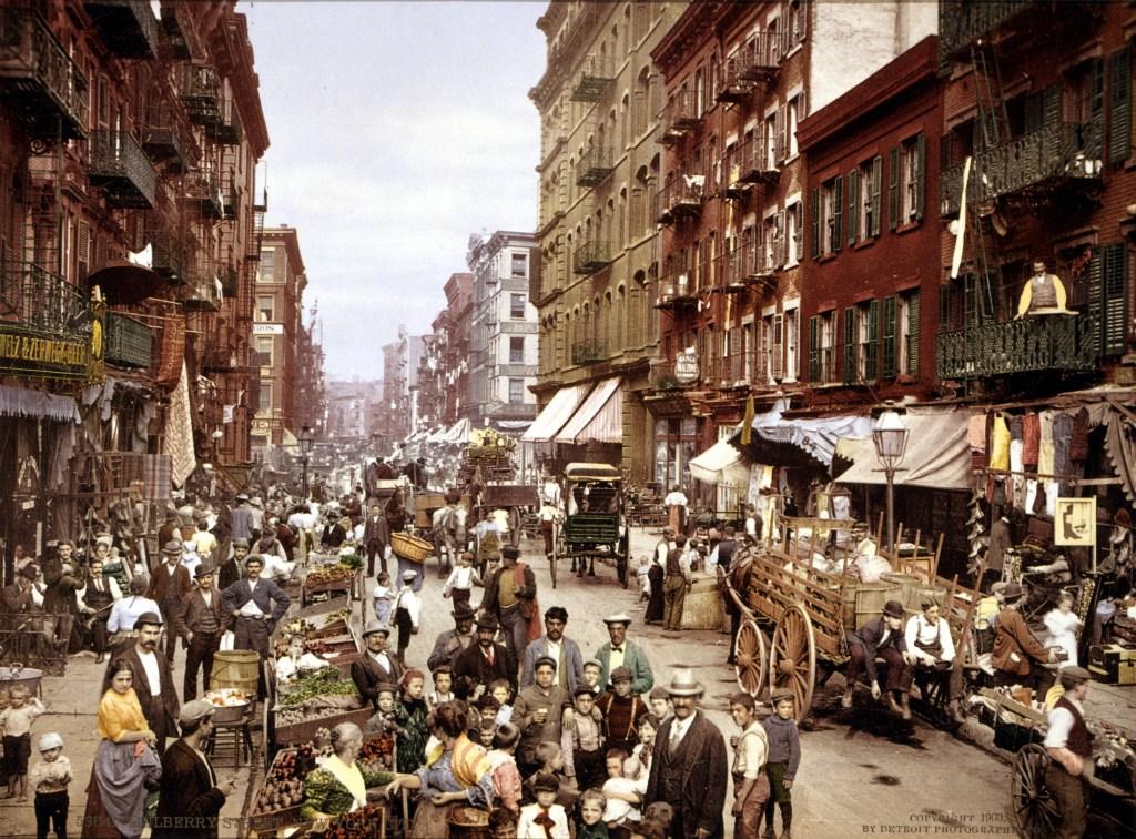 Mulberry Street NYC c LOC gu edit