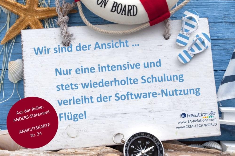 Ansichtskarte Software-Schulung
