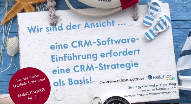 Ansichtskarte zum Thema CRM-Software-Einführung
