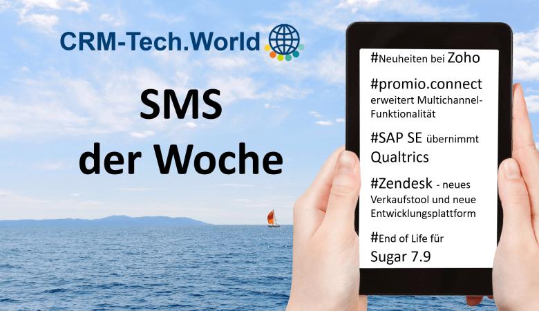 CRM-Tech.World_SMS_Zoho, Promio.connect, SAP SE, Qualtrics, Zendesk, Sugar