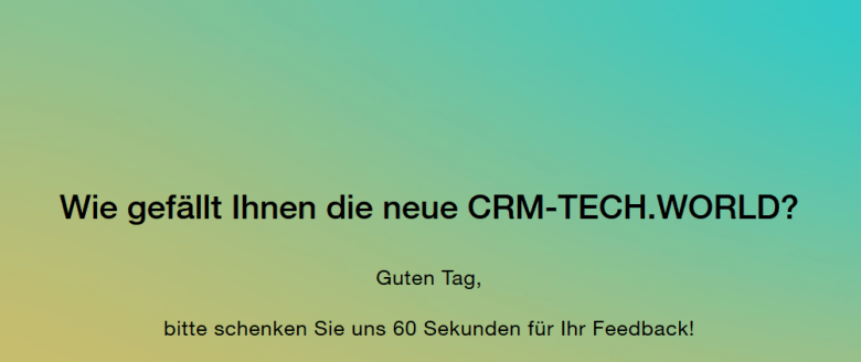 Umfrage CRM-TECH.WORLD