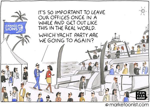 Marketoonist - die Gefahr der Yachtpartys :-)