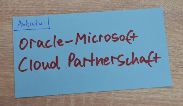 Oracle-Microsoft Cloud Partnerschaft