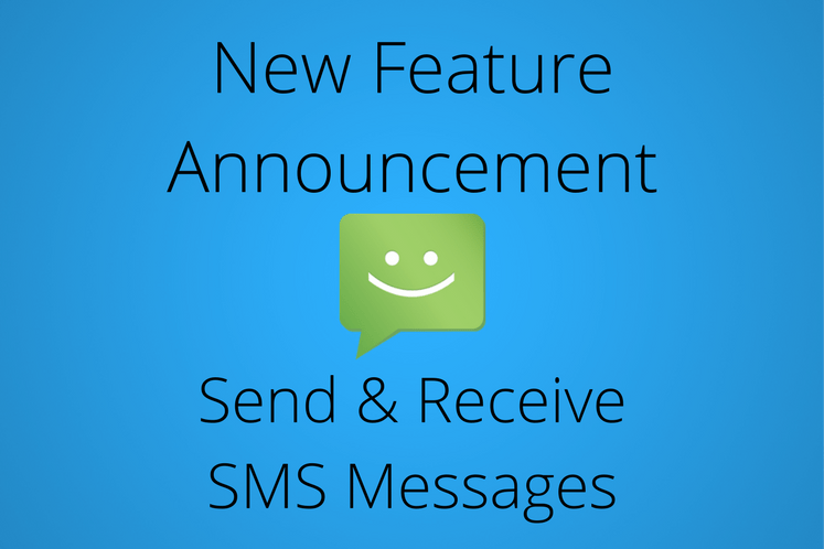 New Feature- Send & Receive SMS Messages 3117