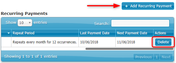 Recurring Payments Report