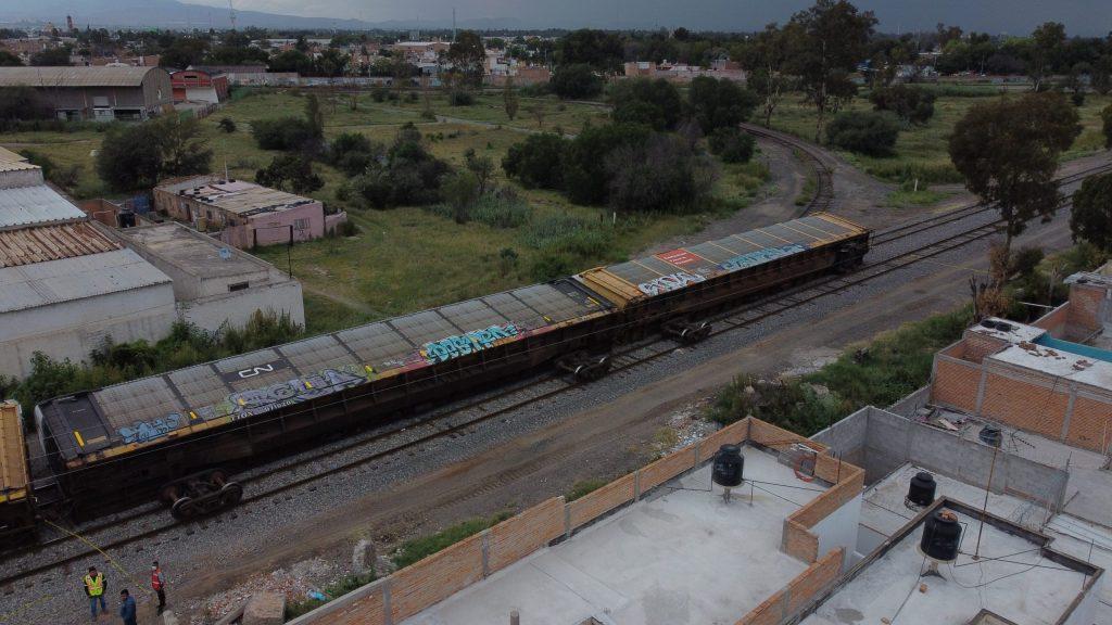 Impresionante descarrilamiento de tren en San Luis Potosí