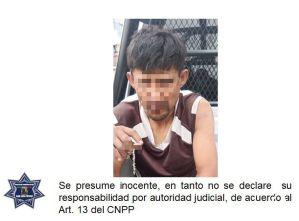 Un hombre fue detenido por policías al ser señalado por el probable delito de robo, los hechos sucedieron en Camino Antiguo al Aguaje