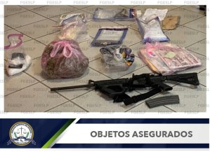 PDI cumplimentaron una orden de cateo en una vivienda de Soledad de Graciano Sánchez, y aseguraron más de 71 kilos de marihuana