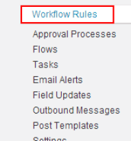 How to Create workflow rules in salesforce