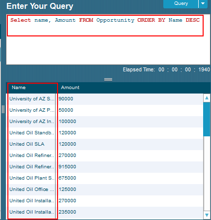 SOQL ORDER BY Clause | ASC, DESC
