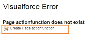 Action function in Salesforce Example