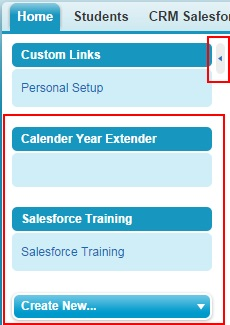Showing and Hiding sidebar in Salesforce Application