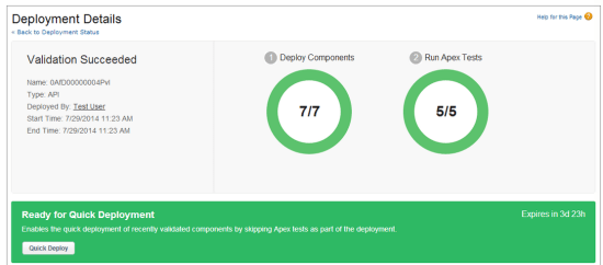 What is Quick deploy - Quick deployments in Salesforce