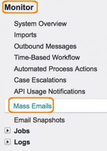 Send mass email in Salesforce