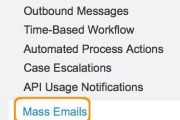 Send mass email in Salesofrce