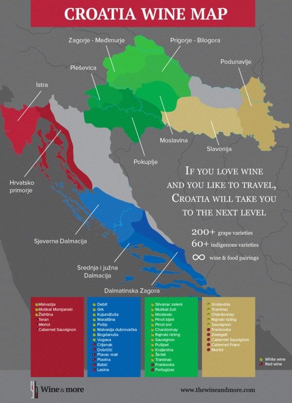 INFOGRAPHIC Croatian Wine Map Wine Regions of Croatia