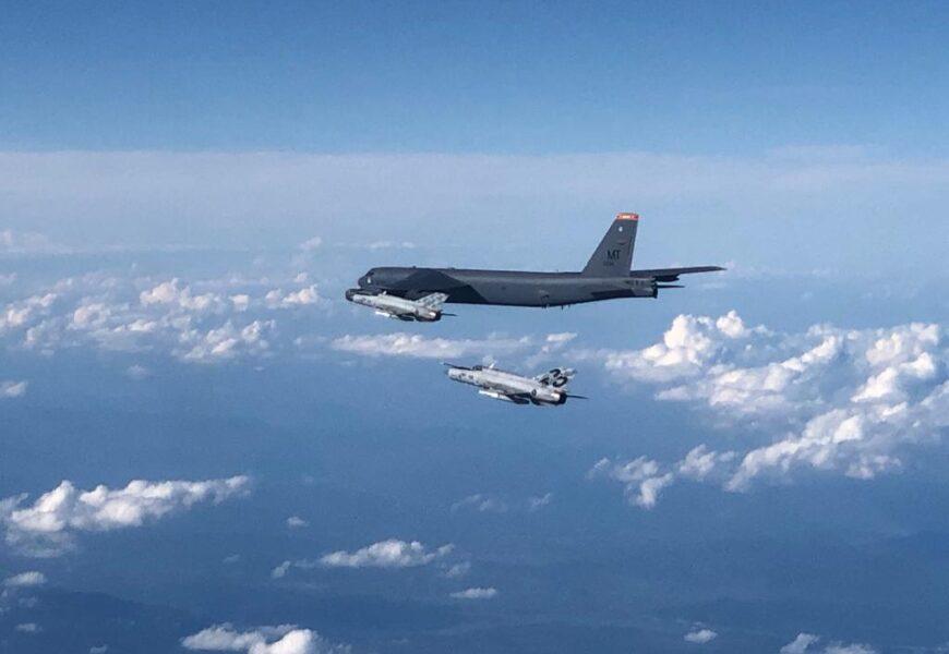VIDEO: American B-52 bomber flies over Croatia escorted by Croatian Air Force jets   Croatia Week