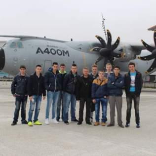 Le groupe en visite chez AIRBUS