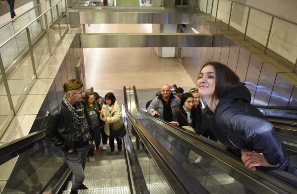 Sortie de métro