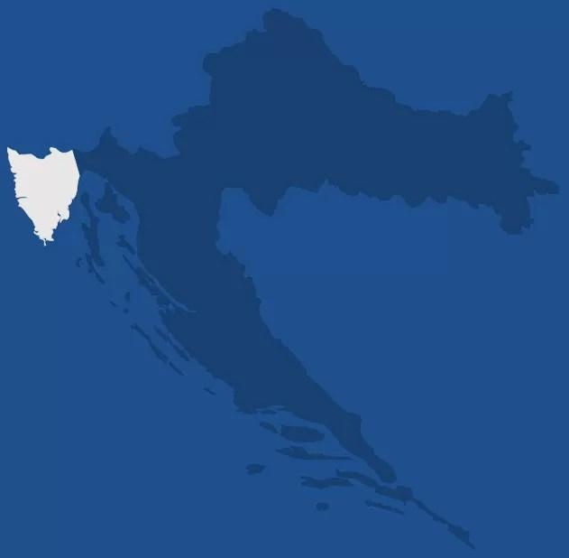 Istrie, région de Croatie