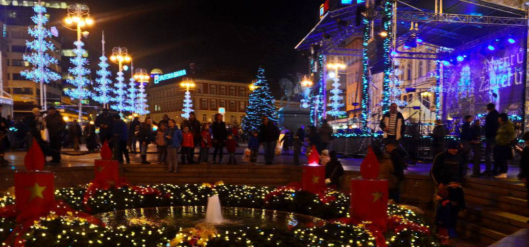 Zagreb, meilleur marché de Noël en Europe