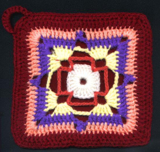Agarradera Cuadrada Tejida a Crochet