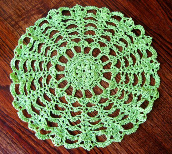 Tapete redondo en tejido crochet
