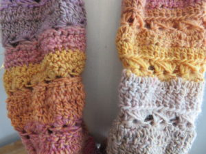 Dolly Mixture Sweetie Crochet Cowl Pattern Close up