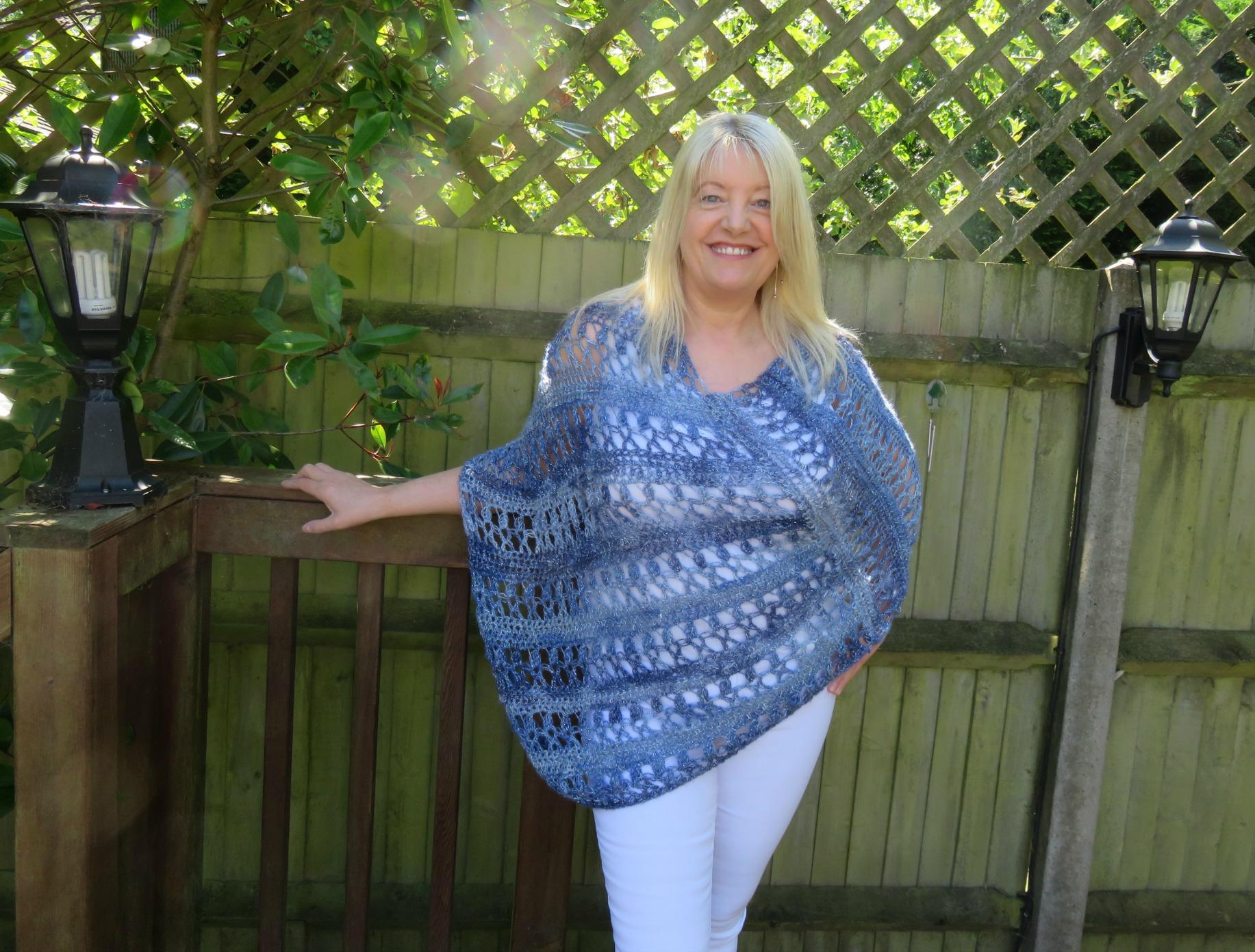 Ocean Kiss Summer Poncho Crochet Pattern - Crochet 24/7