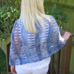 Ocean Kiss Crochet Poncho Pattern from Crochet247 featuring Lion Brand Shawl in a Ball