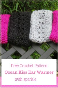 Ocean Kiss Ear Warmer with sparkle