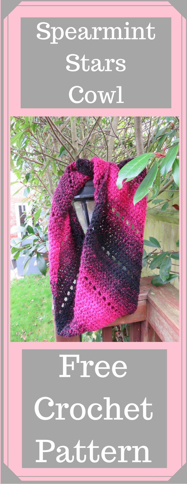 Spearmint Stars C2C a Crocheted Cowl With a Twist! - Crochet 24/7