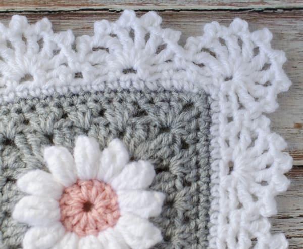 Puff Daisy Afghan Crochet 365 Knit Too