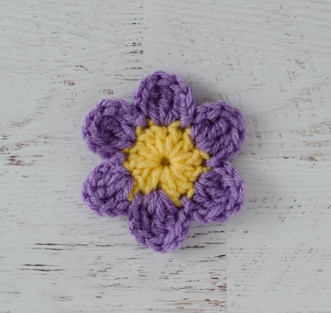 Purple Crochet Flower Fun Pattern