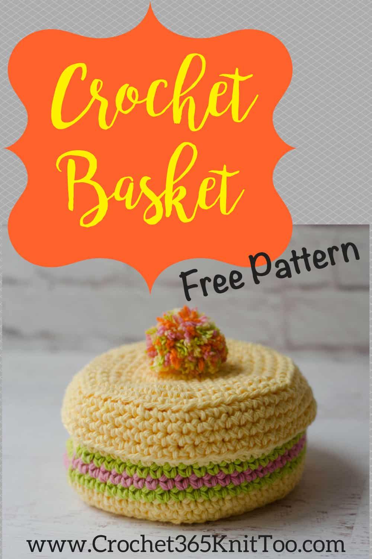 Crochet coaster basket pattern is fun to crochet.  Easy, free, crochet basket pattern!