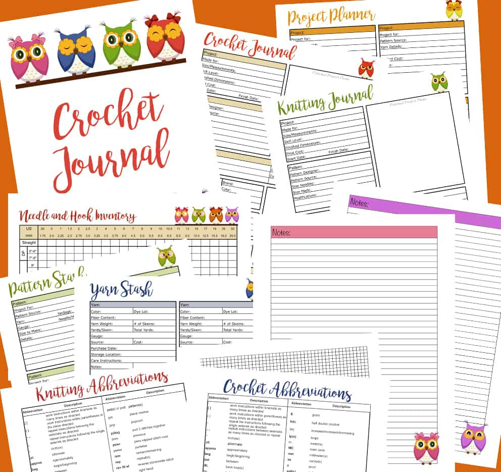 Free crochet and knit journal crochet 365 knit too free crochet journal nvjuhfo Image collections