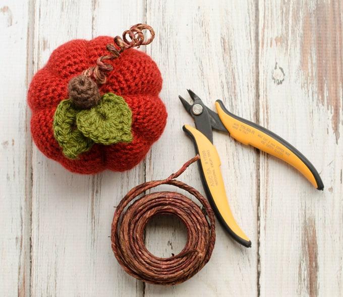 medium crochet pumpkin