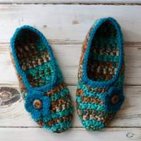 Not Your Grandma's Crochet Slippers