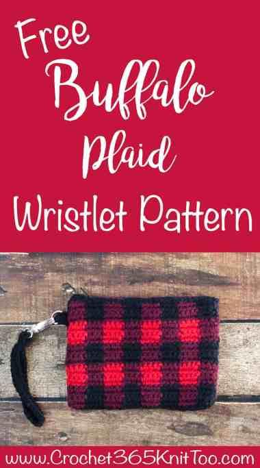 Buffalo Plaid Wristlet Crochet Pattern